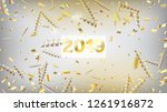 2019 tinsel confetti isolated ... | Shutterstock .eps vector #1261916872