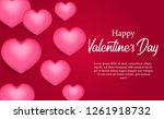 happy valentine day with 3d... | Shutterstock .eps vector #1261918732