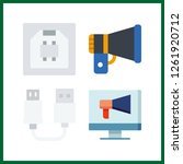 4 portable icon. vector... | Shutterstock .eps vector #1261920712