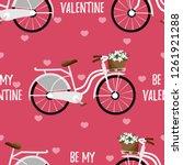 valentine's day seamless...   Shutterstock .eps vector #1261921288