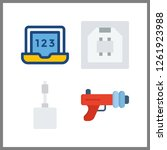 4 portable icon. vector... | Shutterstock .eps vector #1261923988