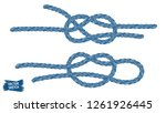 nautical knots. rope sketches.... | Shutterstock .eps vector #1261926445