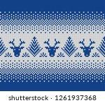 christmas sweater design. fair... | Shutterstock .eps vector #1261937368