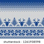 christmas and new year design.... | Shutterstock .eps vector #1261938598