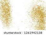 gold glitter texture isolated...   Shutterstock .eps vector #1261942138