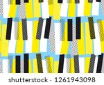 abstract yellow and blue jazz... | Shutterstock .eps vector #1261943098
