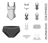 vector illustration of bikini... | Shutterstock .eps vector #1261944022