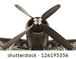 Vintage War Plane Isolated On...