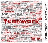 vector conceptual teamwork...   Shutterstock .eps vector #1261957375