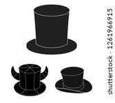 vector illustration of hat and...   Shutterstock .eps vector #1261966915