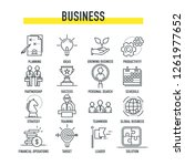 business icon set | Shutterstock .eps vector #1261977652