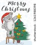 merry christmas. festive card... | Shutterstock .eps vector #1261988398