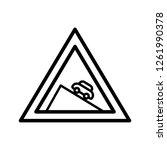 vector dangerous descent icon... | Shutterstock .eps vector #1261990378