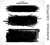 set of grunge banners. grunge... | Shutterstock .eps vector #126199136