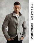 portrait of handsome man in...   Shutterstock . vector #1261995118