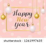 happy new year. illustration... | Shutterstock .eps vector #1261997635
