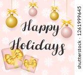 happy holidays. illustration... | Shutterstock .eps vector #1261999645