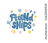 friendships. bright colored... | Shutterstock .eps vector #1262000935