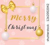 merry christmas. illustration... | Shutterstock .eps vector #1262002042