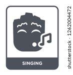 singing icon vector on white... | Shutterstock .eps vector #1262004472