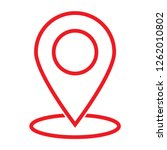 pin icon vector. location sign...