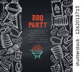 barbecue page design. bbq party ... | Shutterstock .eps vector #1262013715