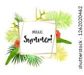 green summer tropical... | Shutterstock .eps vector #1262020462