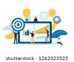 vector illustration of flat... | Shutterstock .eps vector #1262023525