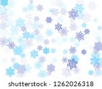 blue paper snowflakes flying... | Shutterstock .eps vector #1262026318