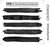 set of watercolor brushes.... | Shutterstock .eps vector #126203012