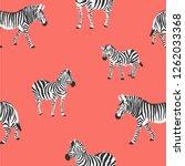 vector zebra pattern on living... | Shutterstock .eps vector #1262033368