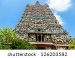 hindu temple  meenakshi ... | Shutterstock . vector #126203582