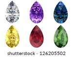 set of gems in different colors   Shutterstock . vector #126205502