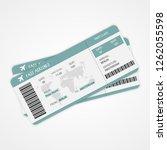 boarding pass. travel tickets....   Shutterstock .eps vector #1262055598