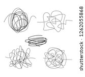 scribble hand drawn circle set. ... | Shutterstock .eps vector #1262055868