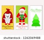vector illustration of winter... | Shutterstock .eps vector #1262069488