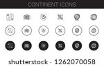 continent icons set. collection ...   Shutterstock .eps vector #1262070058