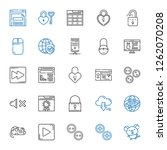 www icons set. collection of...   Shutterstock .eps vector #1262070208