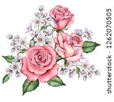 watercolor greeting card ...   Shutterstock . vector #1262070505