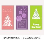 vector illustration of merry... | Shutterstock .eps vector #1262072548