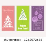 vector illustration of merry... | Shutterstock .eps vector #1262072698