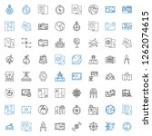 geography icons set. collection ... | Shutterstock .eps vector #1262074615