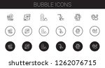 bubble icons set. collection of ...