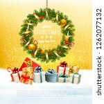 christmas holiday background... | Shutterstock .eps vector #1262077132