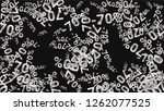 percent sings on dark...   Shutterstock .eps vector #1262077525