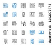 headline icons set. collection... | Shutterstock .eps vector #1262079775