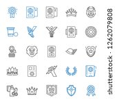 insignia icons set. collection... | Shutterstock .eps vector #1262079808