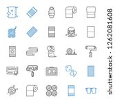 roll icons set. collection of... | Shutterstock .eps vector #1262081608