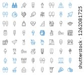 flavor icons set. collection of ... | Shutterstock .eps vector #1262081725