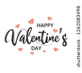 happy valentines day greeting... | Shutterstock .eps vector #1262083498